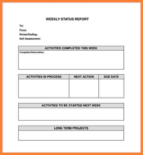 7 weekly construction progress report template progress