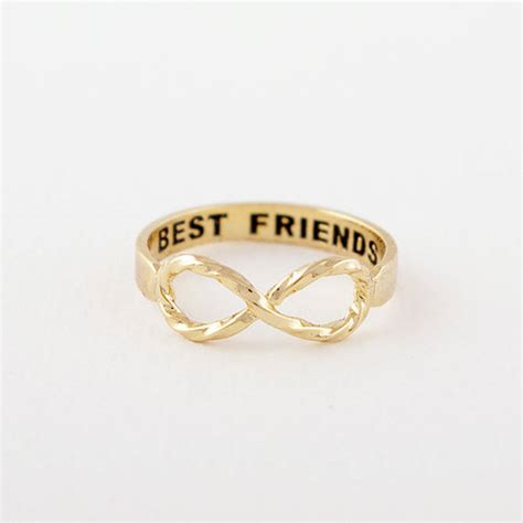 infinity ring best friends best friends infinity ring by junk jewels