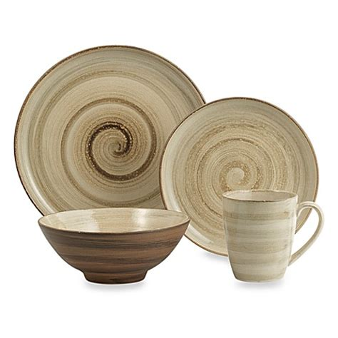 buy sango patio brown 16 dinnerware set from bed