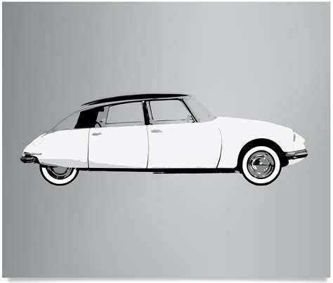 vintage citroen cars freireprintz limited edition screenprints