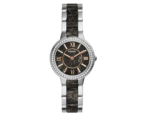 Fossil Silver Combi fossil s 30mm virginia silver pearlised black great daily deals at australia s