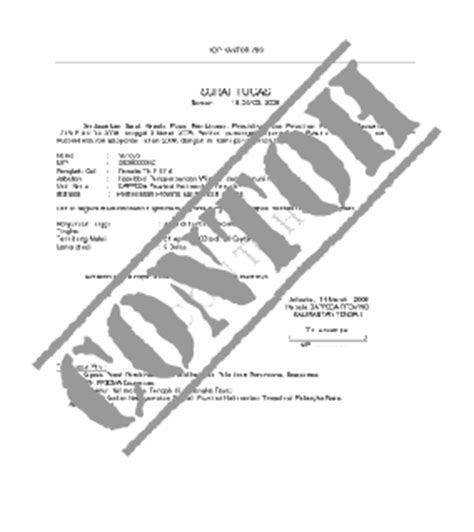 contoh surat keterangan bekerja liputan informasi