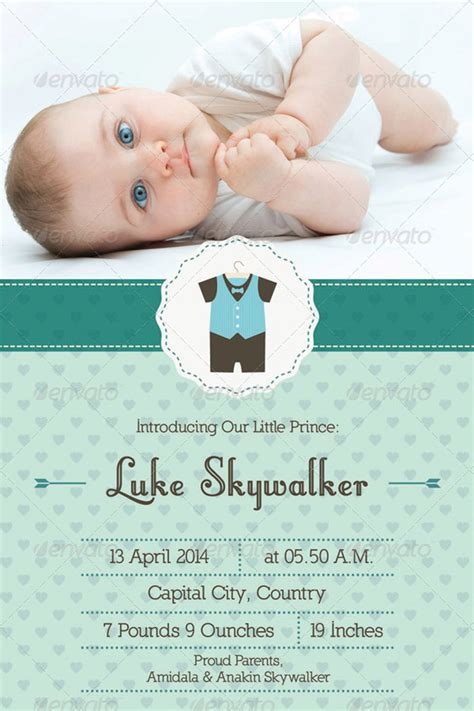 announcement card template 15 printable baby shower cards templates