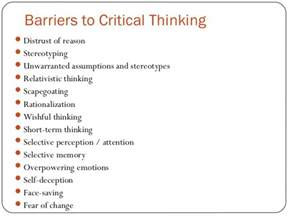 Critical Thinking Essay Exle by Developing Critical Thinking Skills