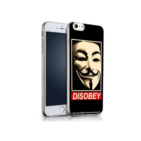 Iphone 6 6s coque iphone 6 6s v for vendetta disobey