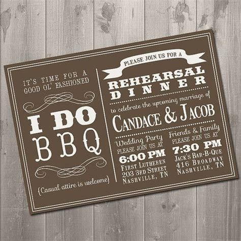 casual wedding rehearsal dinner invitations the world s catalog of ideas