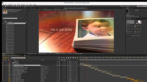 Templates After Effects Tutorial | insta photos slideshow after effects template overview