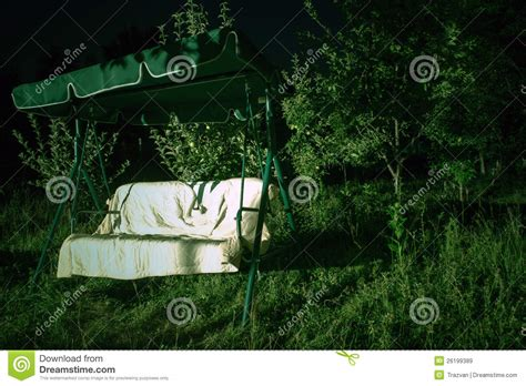 swing night garden swing at night royalty free stock images image