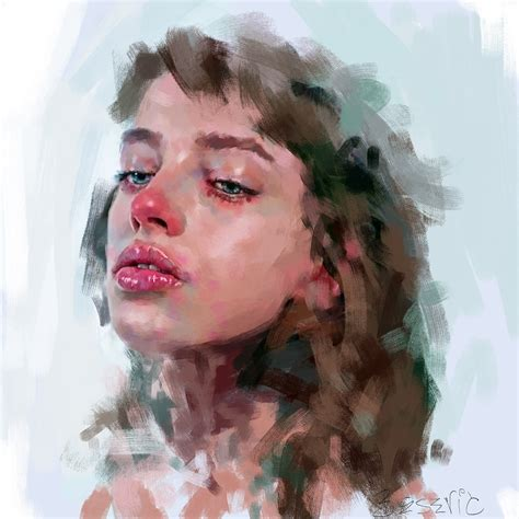 painting pictures drawing artstation nose study ivana besevic