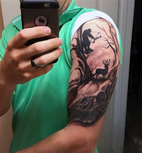upper half sleeve hunting tattoo creativefan