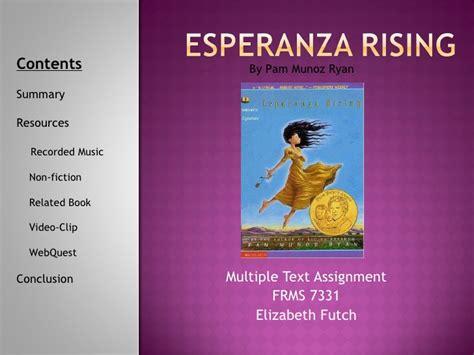 esperanza rising book report text esperanza rising
