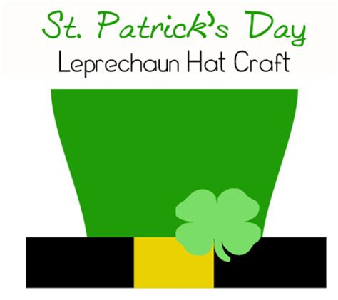 How To Make A Leprechaun Hat Out Of Paper - st s day crafts leprechaun hat printable this