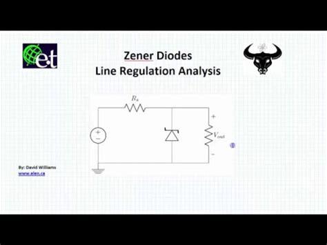 line regulator diode zener zener diodes line regulation exle
