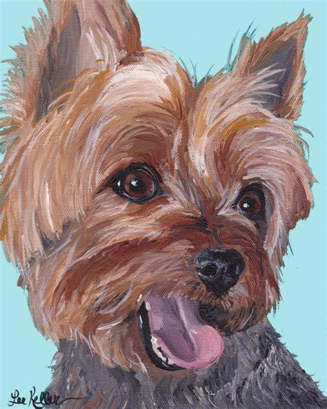 original yorkshire terrier yorke art print from original yorkshire terrier painting