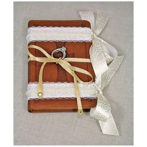 Bible Ring Bearer Pillow ring bearer pillow alternative ring bearer bible brown