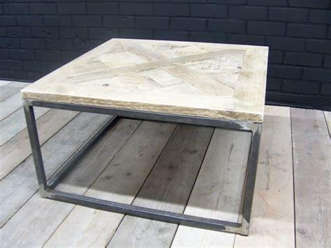 salontafel jorg salontafel steigerhout met stalen buisframe 80x80x46cm