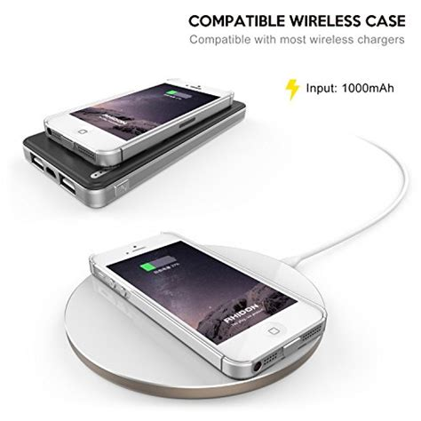 Qi Wireless Charging Lightning Receiver For Iphone 5 5s Se 5c 6 T3010 6 iphone 5 wireless receiver rhidon iphone 5 5s qi wireless charging lightning