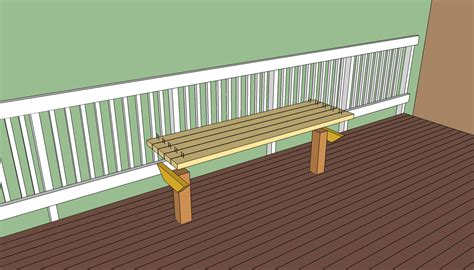 how to build a bench on a deck deck bench plans free howtospecialist how to build