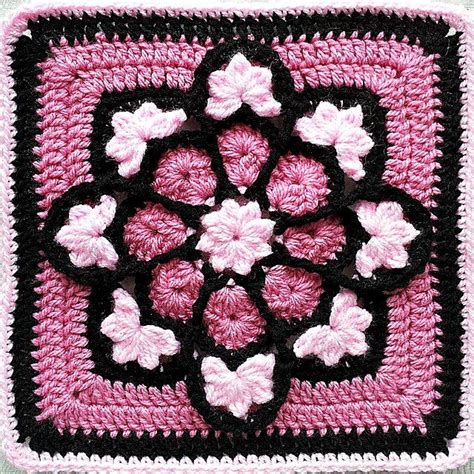 flower pattern granny square african flower crochet pattern pink african flower