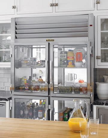 high market a clear glass refrigerator door
