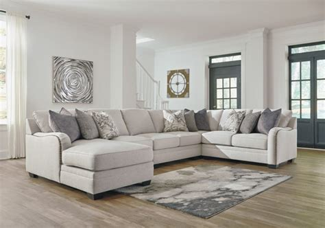 ashley furniture dellara chalk pc sectional  laf chaise  classy home