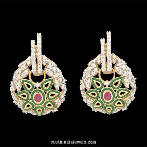 ear stud from kothari jewellery south india jewels