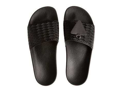 Adidas Rubber Black adidas by raf simons adilette rubber slide sandals in black lyst