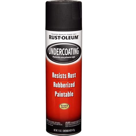 home depot heat resistant paint rust oleum automotive 15 oz rubberized undercoating black