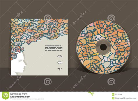 Cd Sleeve Design Template by Cd Cover Design Template Stock Vector Image 51747948