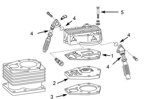 speedaire campbell hausfeld complete valve plate kit