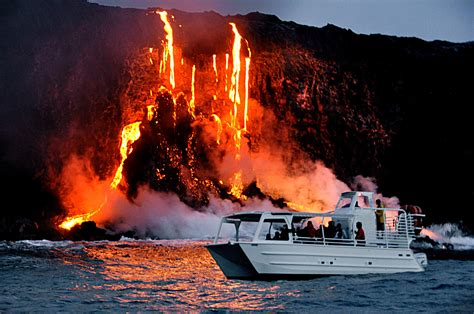 best hawaiian boat names lava ocean adventures lava viewing at it s best on big