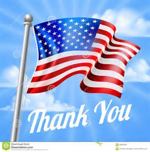 memorial day or veterans day thank you american flag stock vector image 69291639