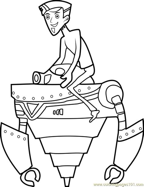 zachbots coloring page free wild kratts coloring pages