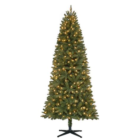 home accents holiday 7 ft pre lit led benjamin fir quick