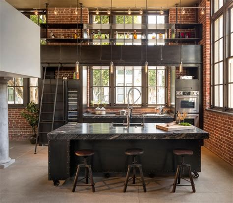 How To Design Your Own Home Bar Industrial Kitchen Design Creates A Great Loft Style