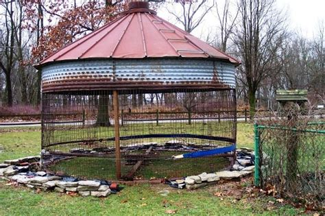 Big Corn Crib by How To Make A Garden Gazebo From An Corncrib Flea