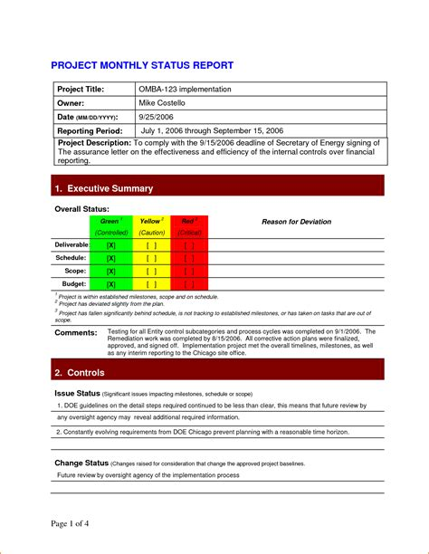 project update report template 5 project status report template teknoswitch