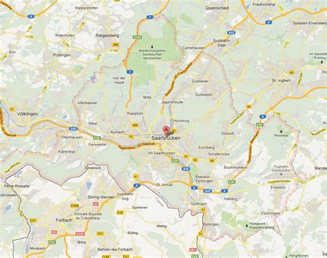 map of saarbrucken germany saarbrucken map