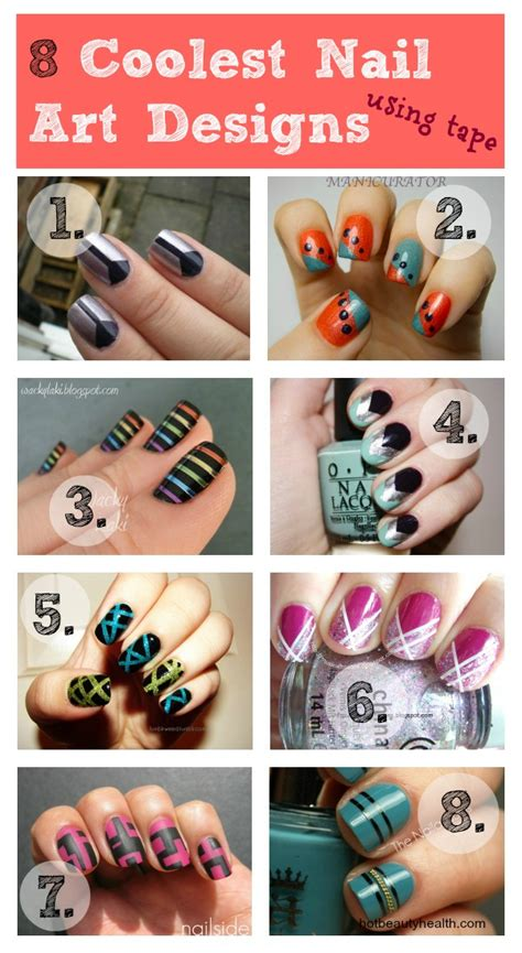 nail art tutorial using tape 8 coolest nail art designs using tape