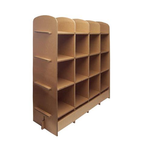 librerie in cartone libreria quot 16 quot 4x3 mobili in cartone by arcadia