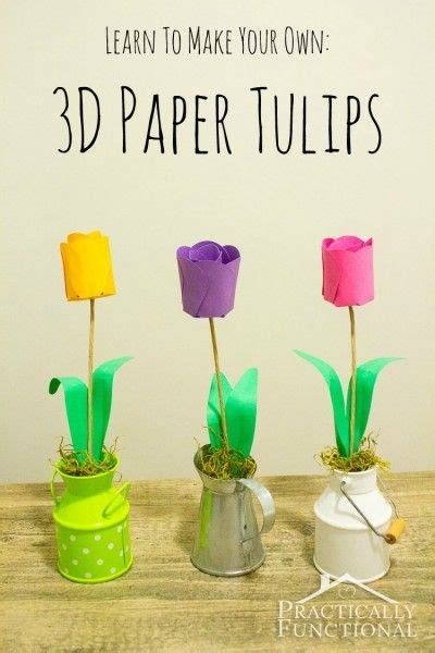 How To Make 3d Paper Crafts - how to make paper flowers 3d paper tulips make paper
