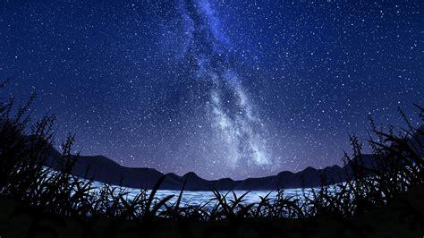 stars starry sky milky  wallpaper