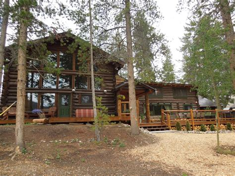 Lakeside Cabins Colorado by Large Lakefront Log Cabin W Dock Vrbo