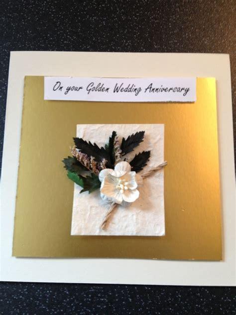 Golden wedding Anniversary Handmade Card   Folksy