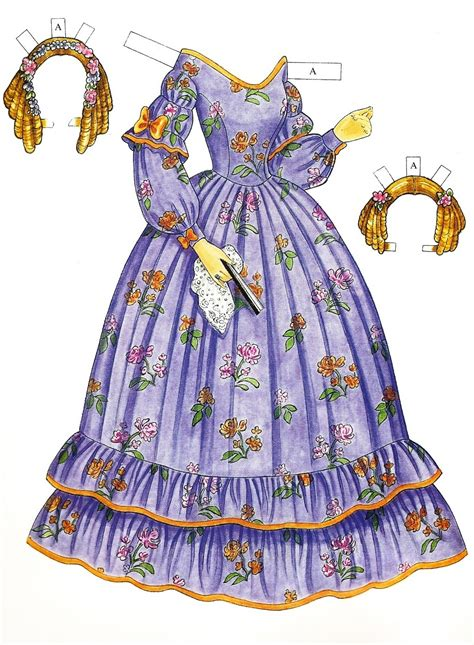 paper doll fashion label godey s early fashions 1838 1858