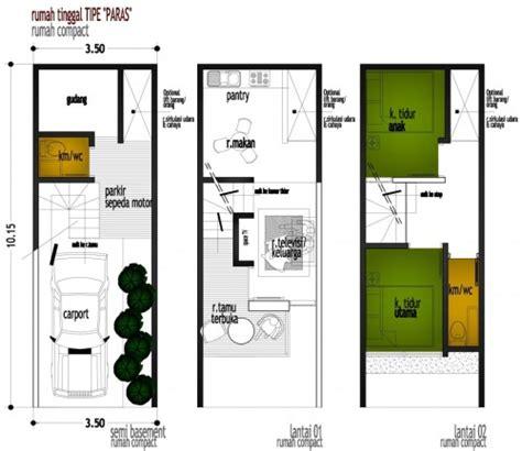 rumah minimalis ukuran 5x10 m dan denah