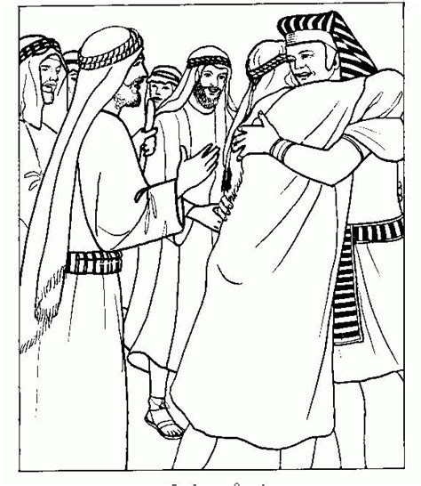 coloring pages joseph and his brothers joseph forgives his brothers coloring page az coloring pages