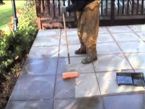 Patio Slab Sealer Wet Look patio sealer application for protection against frost and