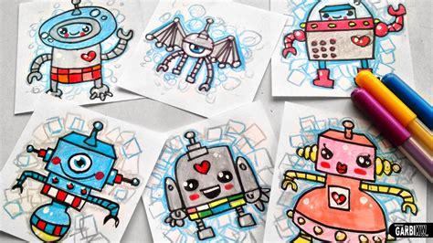 imagenes de robots kawaii tutorial c 243 mo dibujar robots bonitos dibujos sencillos y