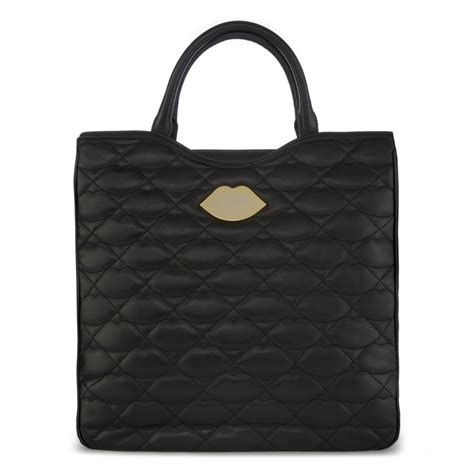 Looking For Lulu Guinness Versace Or Prada Get Discount Designer Glasses At Metsuki by Lulu Guinness Black Quilted Leather Large Wanda Tote